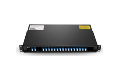 16 Channels C43-C58 Dual Fiber DWDM Mux Demux with Expansion Port, 1U Rack Mount, LCUPC