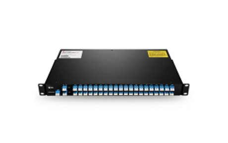 40 Channels C21-C60 Dual Fiber DWDM Mux Demux with Monitor Port and 1310nm Port, 3.5dB Typical IL, 5