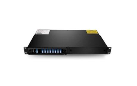 8 Channels C22-C36 Single Fiber DWDM Mux Demux with Expansion Port, 2-slot 1U Rack Mount