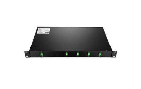 1X4 PLC Fiber Splitter, 1U 19 Rack Mount, SCAPC