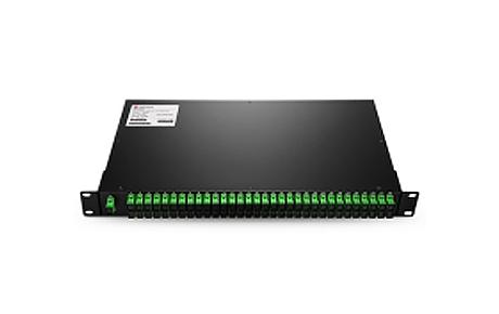 1X64 PLC Fiber Splitter, 1U 19 Rack Mount, SCAPC