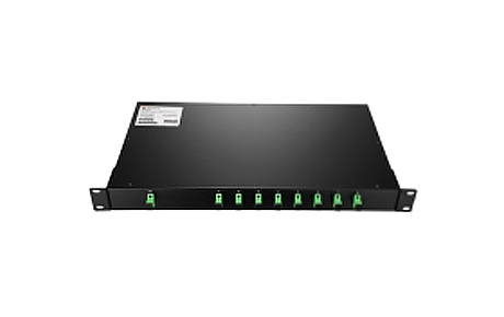 1X8 PLC Fiber Splitter, 1U 19 Rack Mount, SCAPC