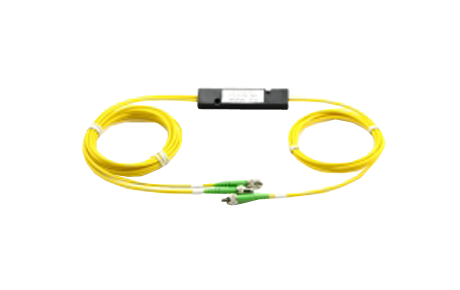 1x2 PLC Fiber Splitter, SplicePigtailed ABS Module, 2.0mm, FCUPC