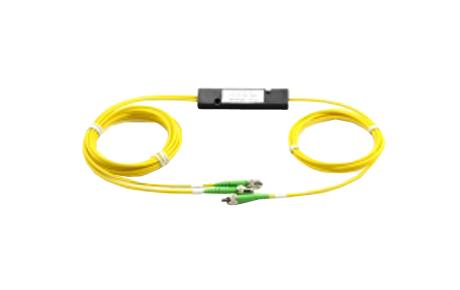 1x2 PLC Fiber Splitter, SplicePigtailed ABS Module, 3.0mm, SCAPC