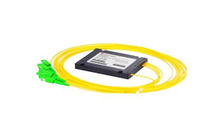 1x4 PLC Fiber Splitter, SplicePigtailed ABS Module, 2