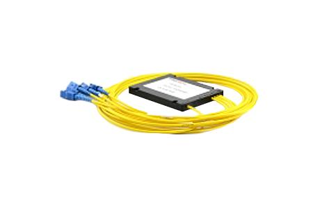 1x4 PLC Fiber Splitter, SplicePigtailed ABS Module, 900μm, SCAPC