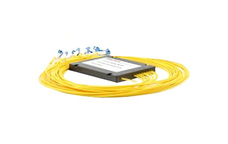1x8 PLC Fiber Splitter, SplicePigtailed ABS Module, 3