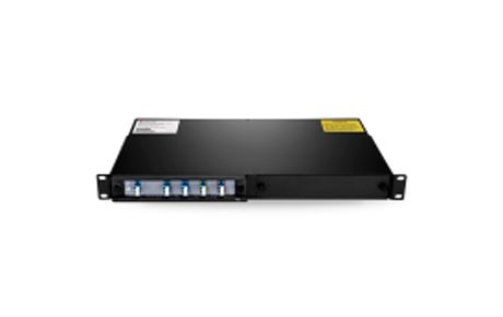 4 Channels 1470-1590nm Single Fiber CWDM Mux Demux with Expansion Port, 2-slot 1U Rack Mount, LCUPC