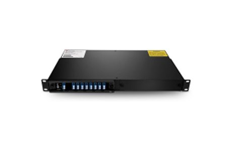 8 Channels C43-C57 Single Fiber DWDM Mux Demux, 2-slot 1U Rack Mount, LCUPC