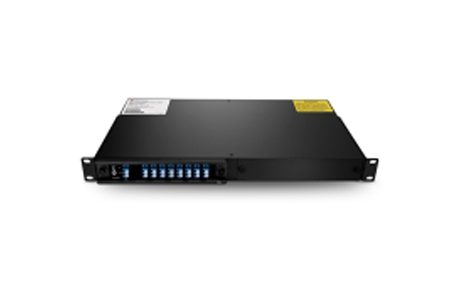 8 Channels C44-C58 Single Fiber DWDM Mux Demux, 2-slot 1U Rack Mount, LCUPC