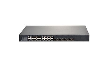 EPON OLT with 8 PON Ports, 1x 10100M Fast Ethernet Port, 4 Gigabit Combo Ports and 4 SFP Ports