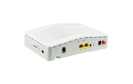 GPON ONT with 1x 10100M Fast Ethernet Port + 1x 101001000M Gigabit Port + 1 PON Port + 1 VOIP Port